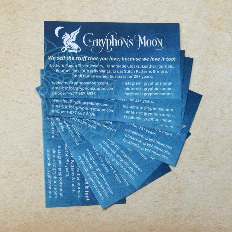 Gryphon's Moon Business Cards